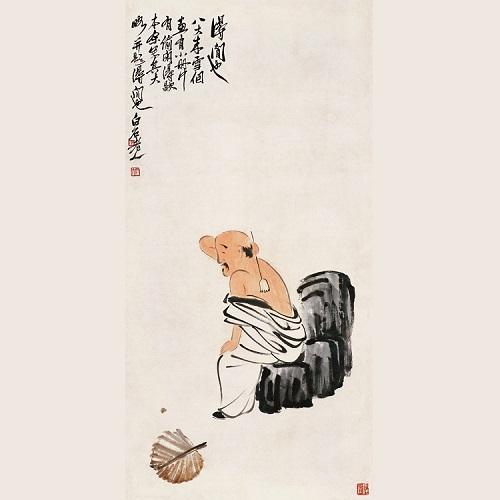大写意国画人物图片:闲适是一缕清丽的茶香_北海亭-最