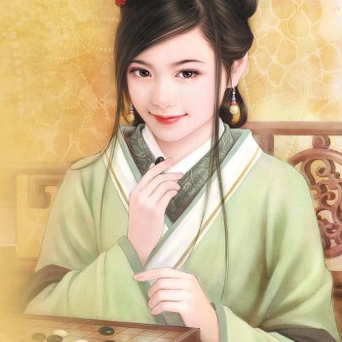 电脑手绘古代美女图片:曲江临池柳,雨后却斜阳(2)