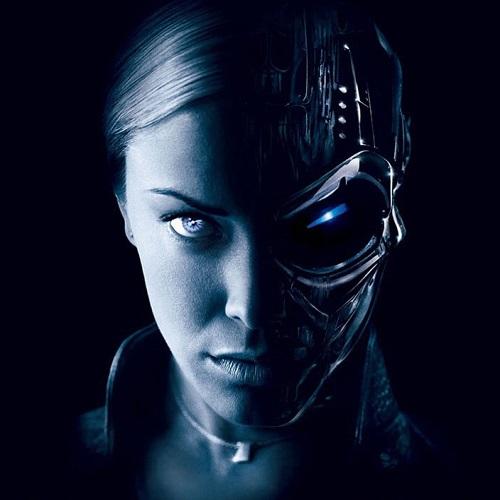 科幻电影中的女机械人高清图片