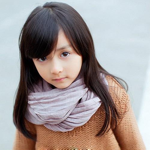 500x500分辨率可爱小女孩高清头像:小荷才露尖尖角
